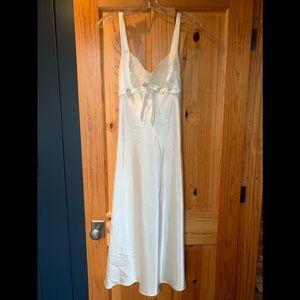 Jones New York Ivory Satin Slip Nightgown Lingerie